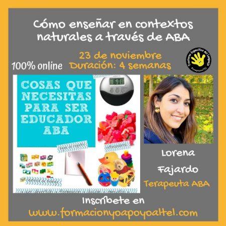Cómo enseñar en contextos naturales a través de ABA