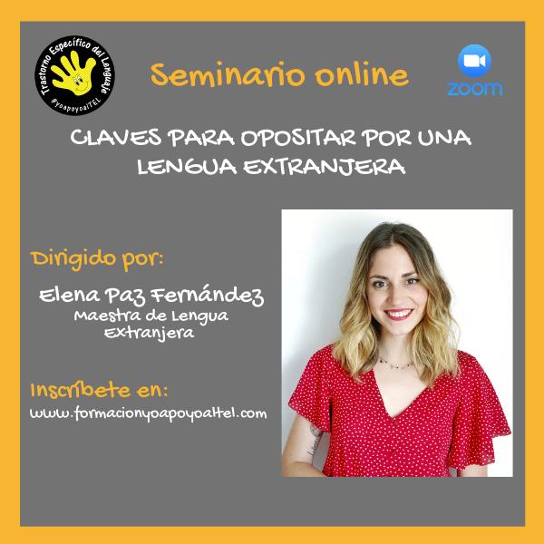 Cartel Elena Paz