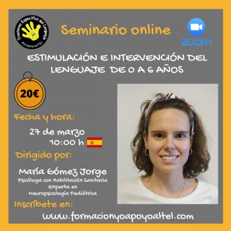 Estimulación e intervención del lenguaje de 0 a 6 años